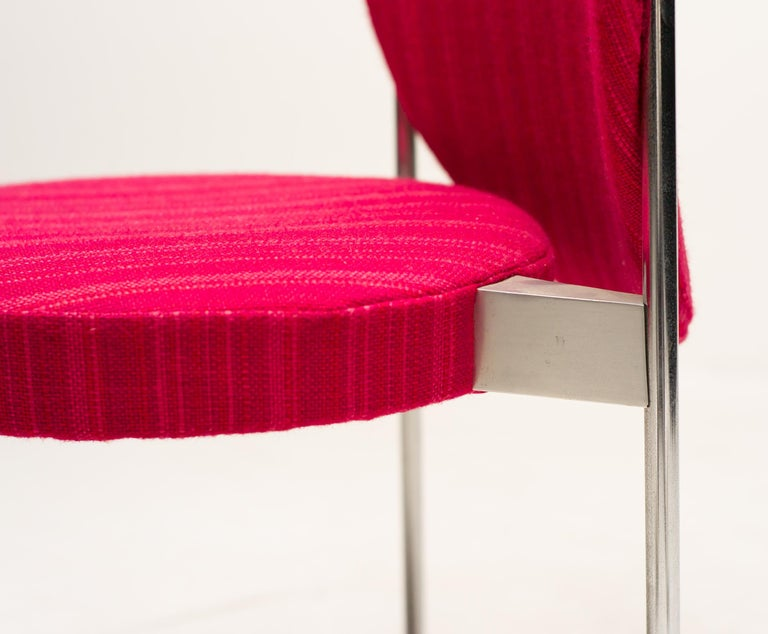 Wool Rare Set of Four Verner Panton High Back Dining Chairs For Sale