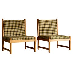 Rare Set of Lounge Chairs and Ottoman by Borge Mogensen for Fritz Hansen
