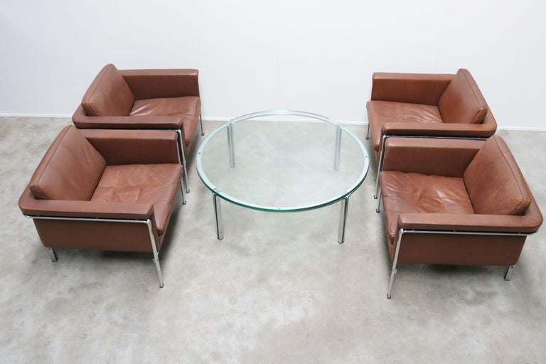 Mid-Century Modern Rare Set of Lounge Chairs & Coffee Table by Horst Bruning for Kill International For Sale