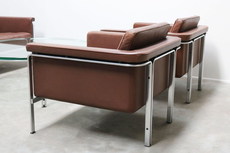 German Rare Set of Lounge Chairs & Coffee Table by Horst Bruning for Kill International For Sale