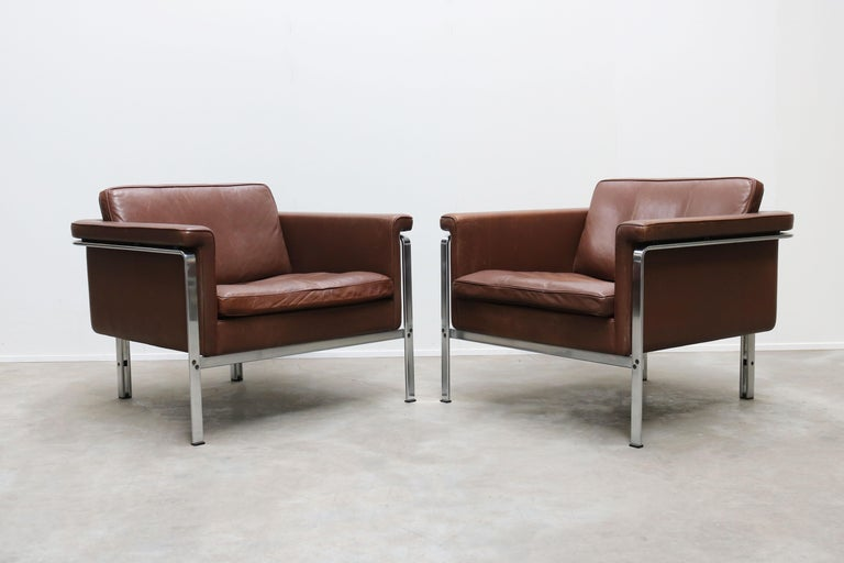 Rare Set of Lounge Chairs & Coffee Table by Horst Bruning for Kill International For Sale 2