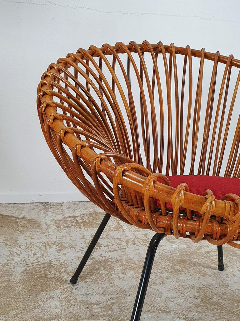 Rare Set of Rattan Chairs by Rohé Noordwolde In Good Condition For Sale In Antwerp, BE