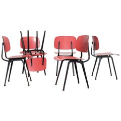 Rare Set of Six Early Edition Friso Kramer Revolt Chairs