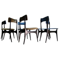 Rare Set of Six Teak Dining Chairs by Alfred Hendrickx for Belform, 1950s