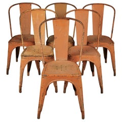 Rare Set of Six Vintage Tolix Chairs, circa 1950