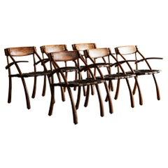 Rare Set of Six Wishbone Chairs by Arthur Espenet Carpenter, 1970s