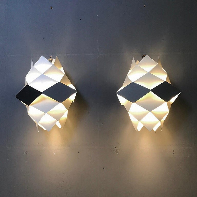 Scandinavian Modern Rare Set of Symphonie Sconces or Ceiling Lights by Preben Dal, Denmark 1960s For Sale