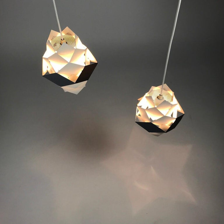 Danish Rare Set of Symphonie Sconces or Ceiling Lights by Preben Dal, Denmark 1960s For Sale