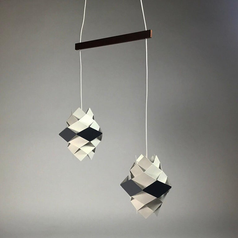 Rare Set of Symphonie Sconces or Ceiling Lights by Preben Dal, Denmark 1960s In Good Condition For Sale In Haderslev, DK