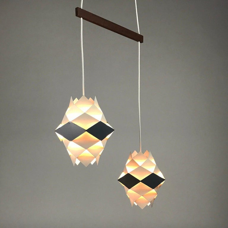 Rare Set of Symphonie Sconces or Ceiling Lights by Preben Dal, Denmark 1960s For Sale 2