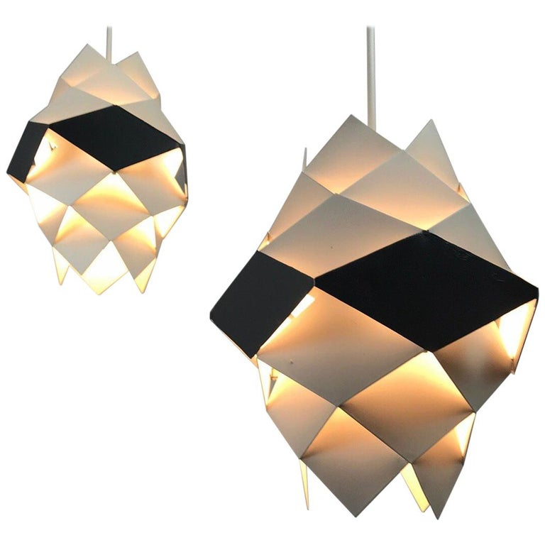 Rare Set of Symphonie Sconces or Ceiling Lights by Preben Dal, Denmark 1960s For Sale