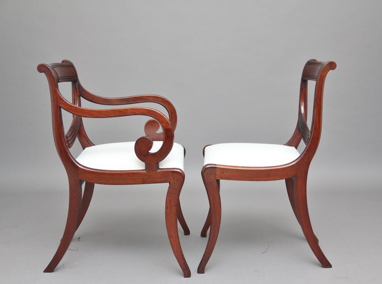Rare Set of Ten Early 19th Century Mahogany Dining Chairs In Good Condition For Sale In Martlesham, GB