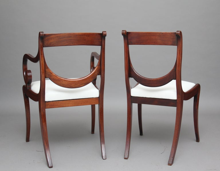 Rare Set of Ten Early 19th Century Mahogany Dining Chairs For Sale 1