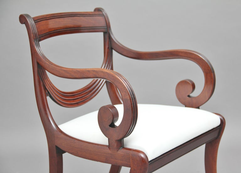Rare Set of Ten Early 19th Century Mahogany Dining Chairs For Sale 2