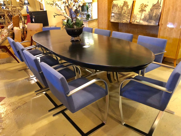 Rare Set of Ten Mies van der Rohe Dining Chairs for Knoll For Sale 9