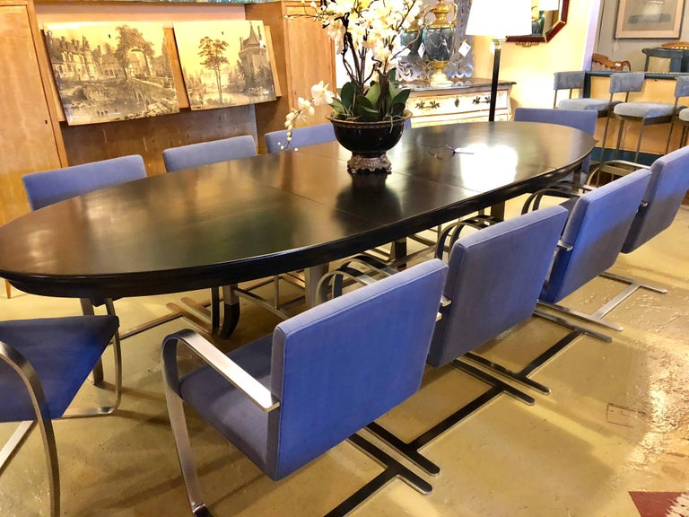Rare Set of Ten Mies van der Rohe Dining Chairs for Knoll For Sale 11