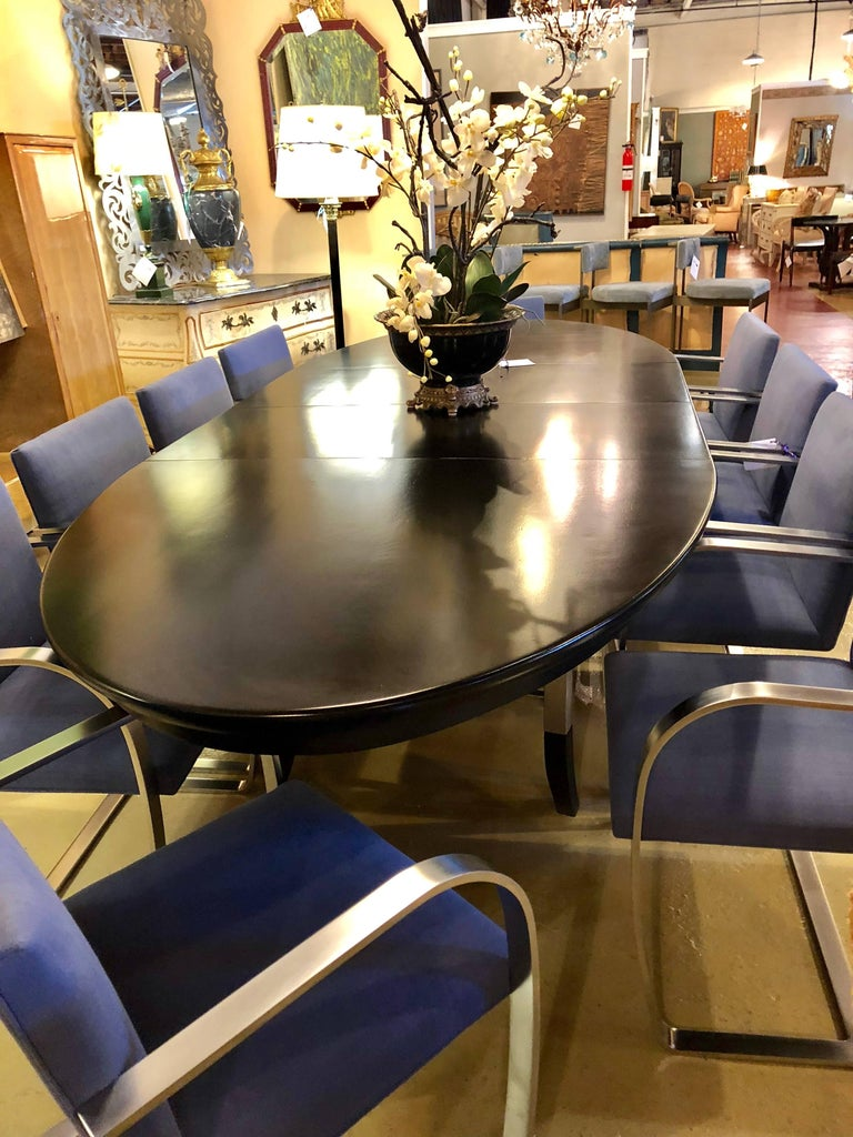 Rare Set of Ten Mies van der Rohe Dining Chairs for Knoll For Sale 12