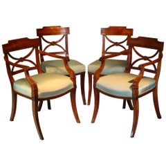 Rare Set of Twenty George Ill Mahogany Dining Chairs