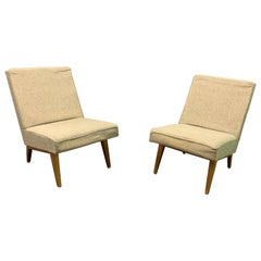 Rare Set of Two Lounge Chairs by Jens Risom for Re-Upholstery