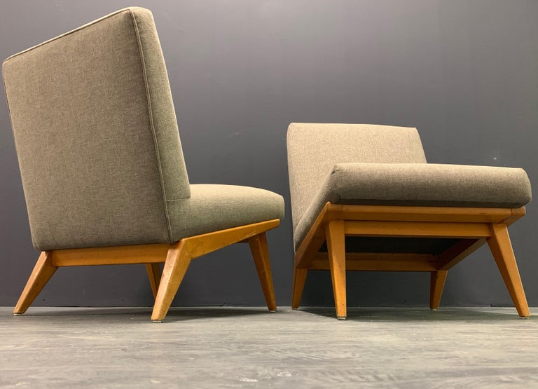 Rare Set of Two No.21 Lounge Chairs by Jens Risom for Knoll For Sale 3