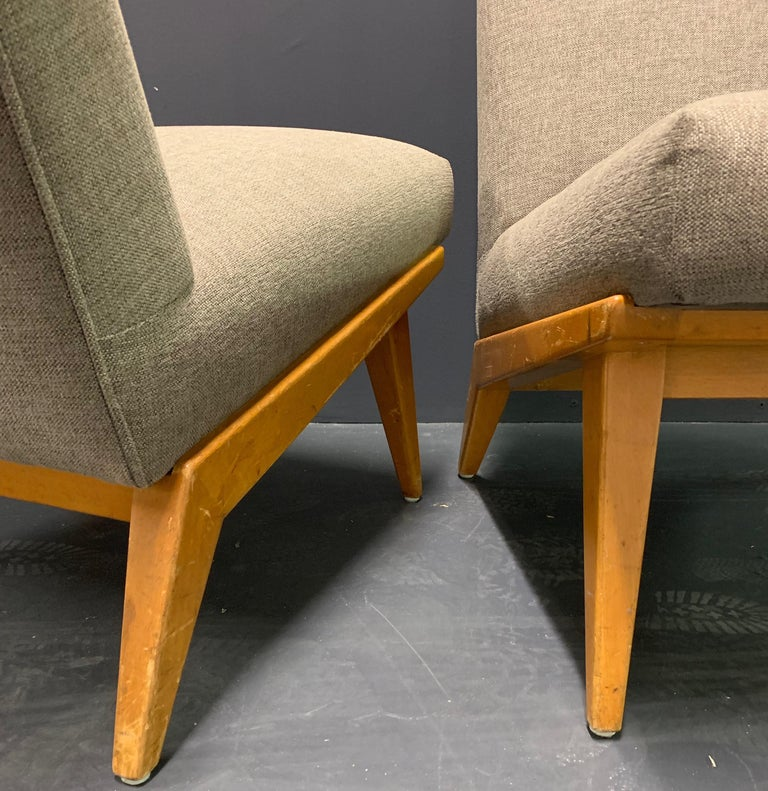 Rare Set of Two No.21 Lounge Chairs by Jens Risom for Knoll For Sale 4