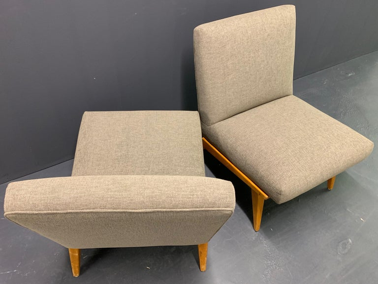 Rare Set of Two No.21 Lounge Chairs by Jens Risom for Knoll For Sale 5