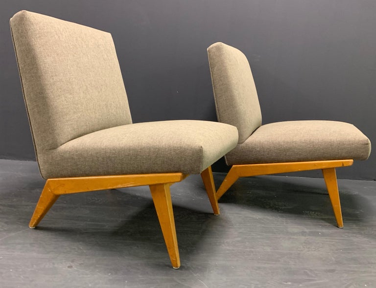 Mid-20th Century Rare Set of Two No.21 Lounge Chairs by Jens Risom for Knoll For Sale