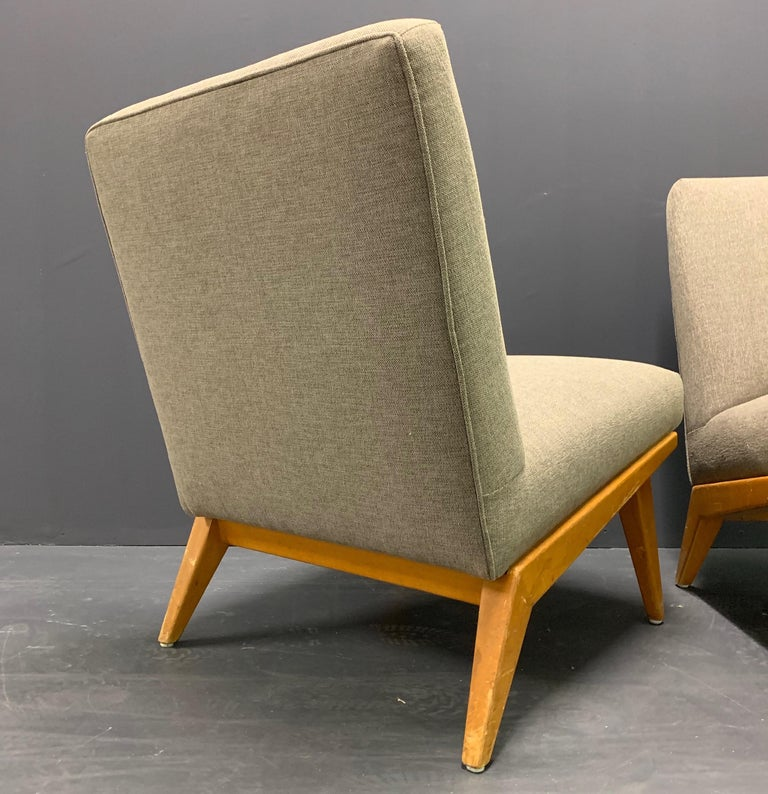 Rare Set of Two No.21 Lounge Chairs by Jens Risom for Knoll For Sale 2