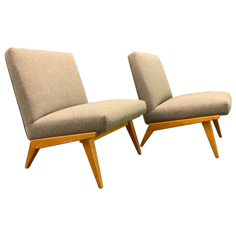 Rare Set of Two No.21 Lounge Chairs by Jens Risom for Knoll For Sale
