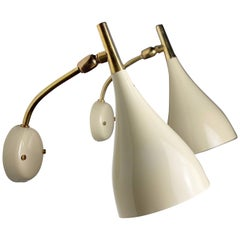 Rare Set of Wall Lights by Louis Kalff