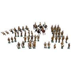Rare Set of World War i Antique Toys Military Soldiers 52 Mixed Pieces Rare Find