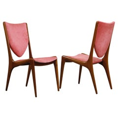 Rare Shield Back Chairs by Vladimir Kagan for Kagan-Dreyfuss, circa 1959, Signed