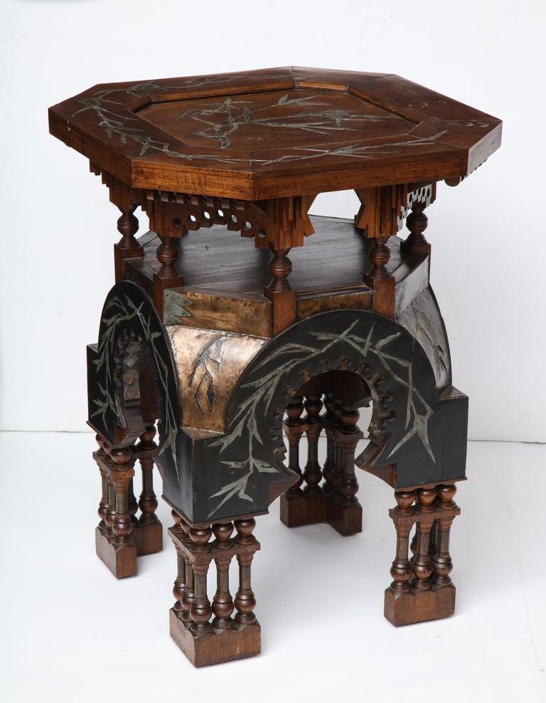 Rare Side Table by Carlo Bugatti For Sale 2