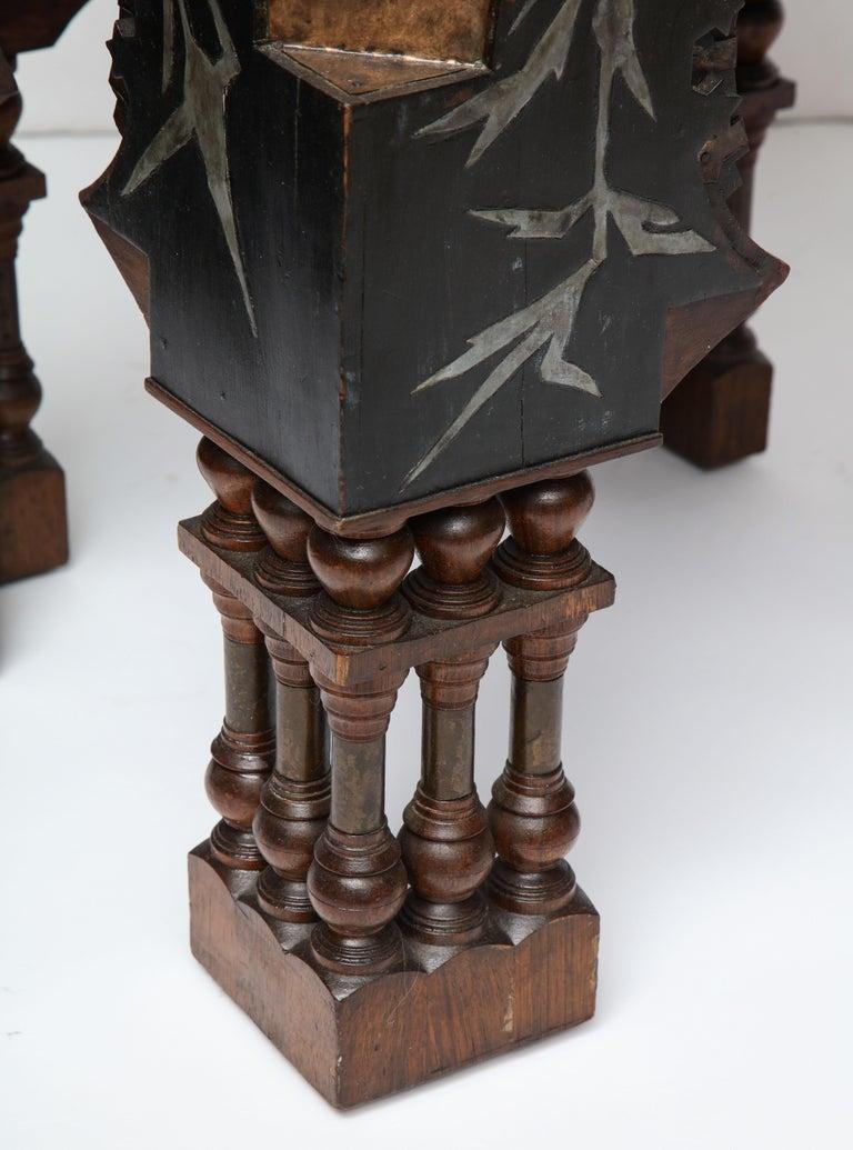 Rare Side Table by Carlo Bugatti For Sale 3