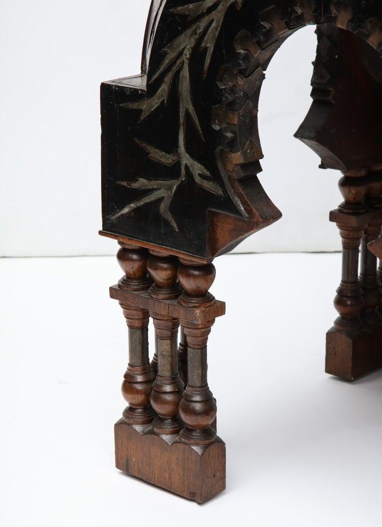 Rare Side Table by Carlo Bugatti For Sale 8