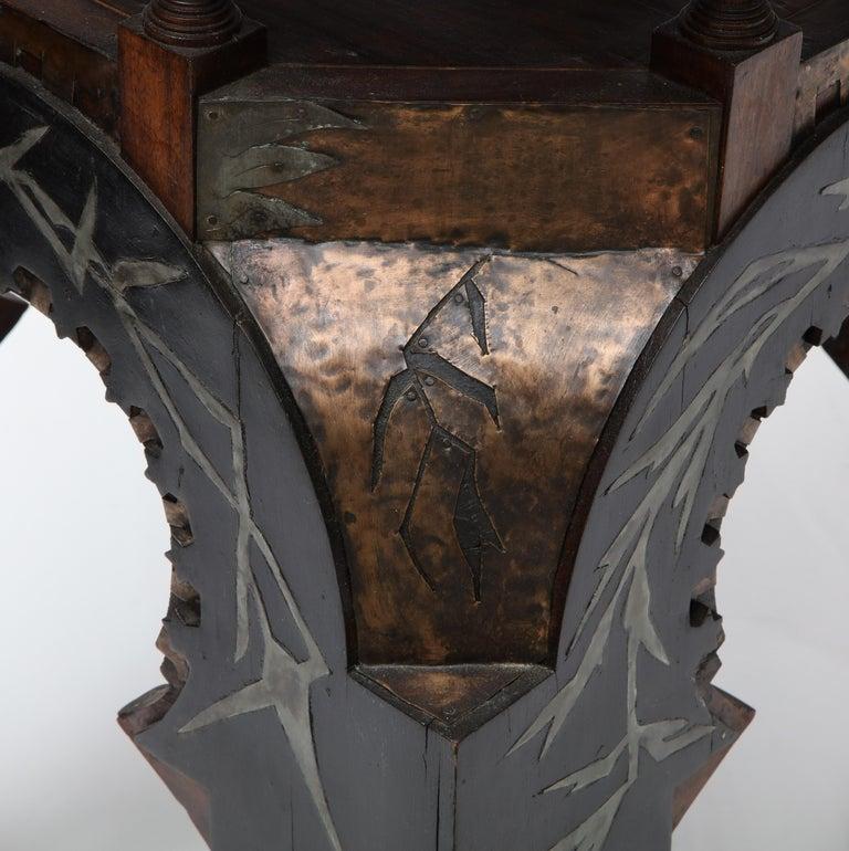 Rare Side Table by Carlo Bugatti For Sale 9