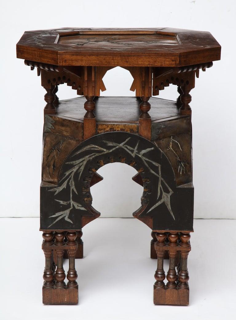 Moorish Rare Side Table by Carlo Bugatti For Sale