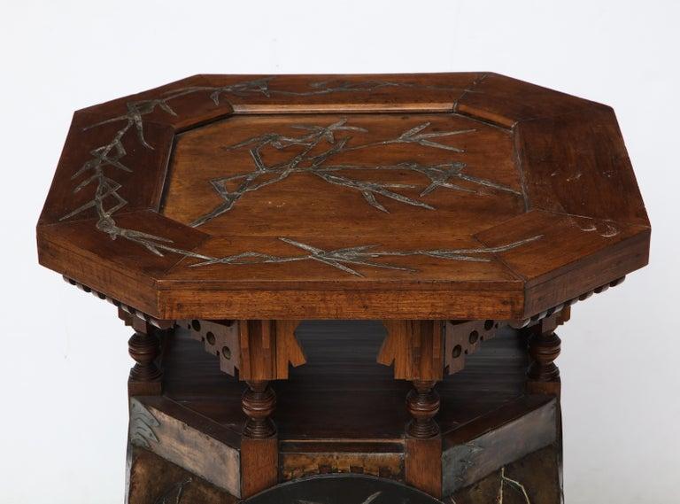 Italian Rare Side Table by Carlo Bugatti For Sale