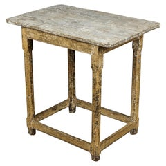 Rare Side Table in Original Paint from Sweden, circa 1860