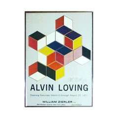 Rare Signed Alvin Loving Poster Exhibition at William Zierler Gallery