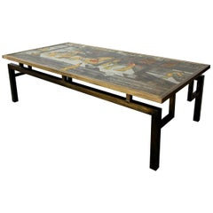 Rare Signed Bronze Chin Ying Coffee Table by Philip and Kelvin LaVerne