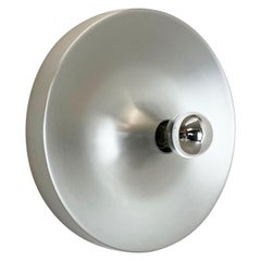 Rare Silver 1970s Charlotte Perriand Style Disc Wall Light by Staff, Germany