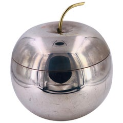 Rare Silver Plated and Brass Apple Ice bucket by Bernard Rice Sons