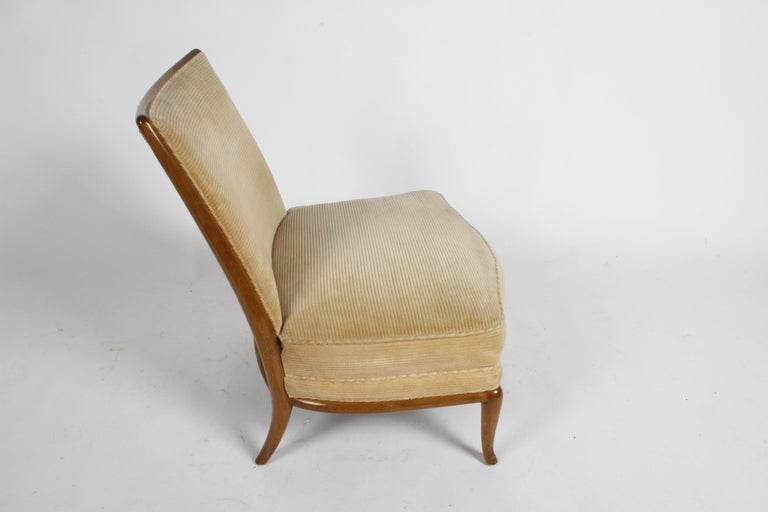 Rare Single T.H. Robsjohn Gibbings for Widdicomb Bergère Style Slipper Chair In Good Condition For Sale In St. Louis, MO