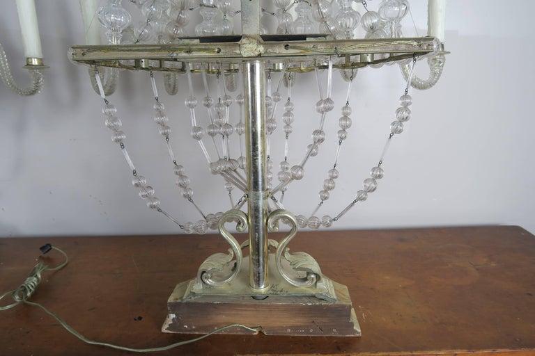 Rare Six-Light Handblown Murano Glass Lamps, Pair For Sale 3
