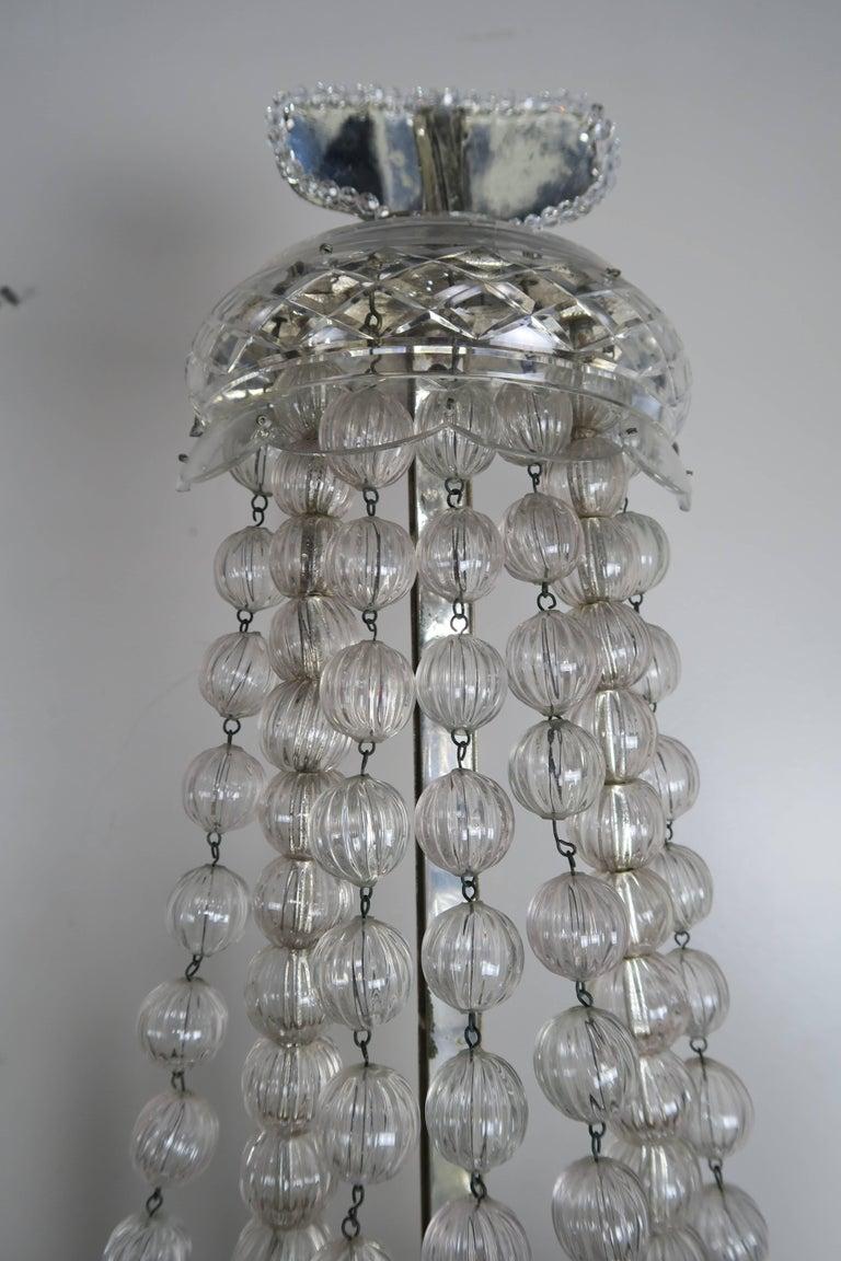 Rare Six-Light Handblown Murano Glass Lamps, Pair For Sale 7