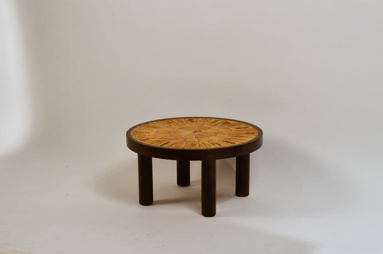 Prime Rare Small Herbier Ceramic Side Table By Roger Capron Caraccident5 Cool Chair Designs And Ideas Caraccident5Info