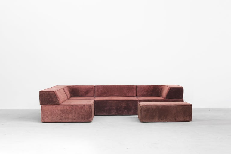 Rare sofa Mod. Trio by Form AG for COR, Germany, 1972 In Excellent Condition For Sale In Berlin, DE