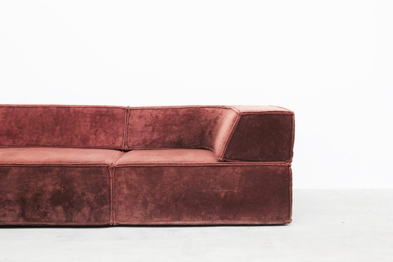Fabric Rare sofa Mod. Trio by Form AG for COR, Germany, 1972 For Sale