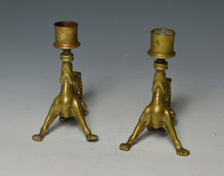 Rare South German Mythological Animal Candleholders 18th Century or Earlier In Good Condition For Sale In London, GB